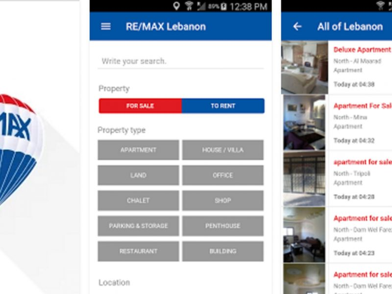 THALES IT - Réalisation Application Mobile - Remax Lebanon