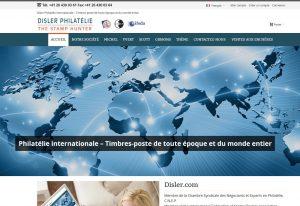 THALES IT - Réalisation sites Internet - Disler Philatélie S.A.