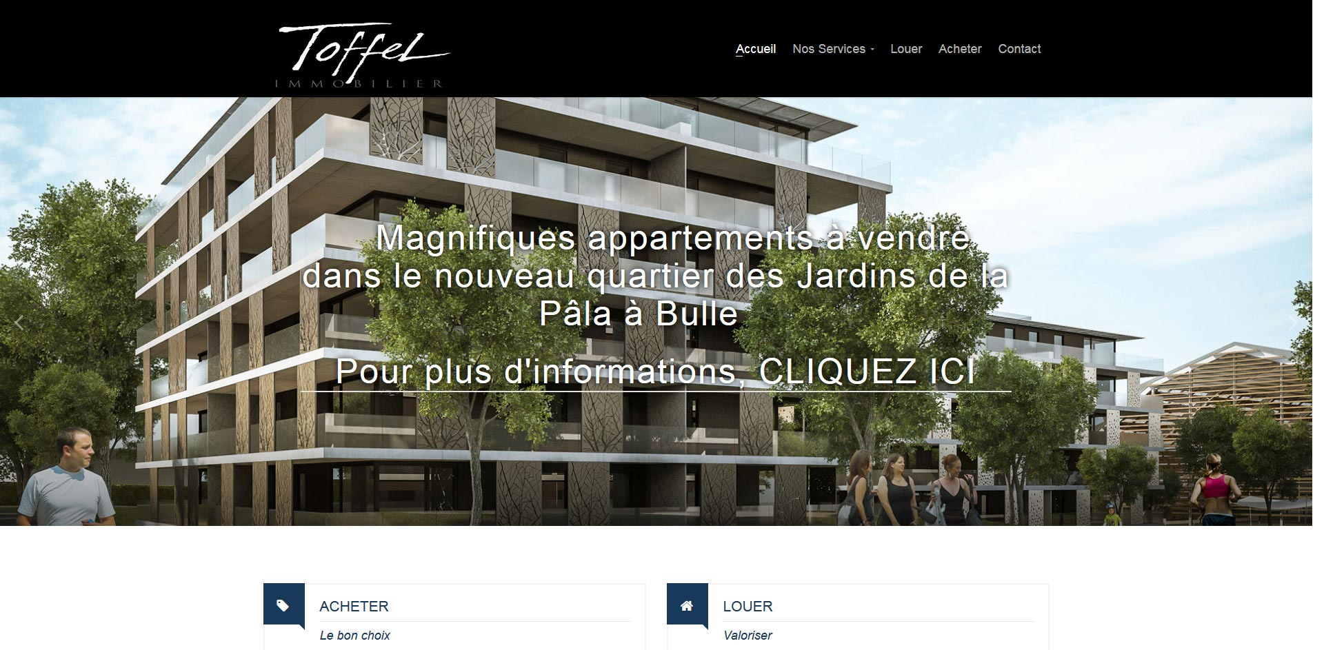 THALES IT - Réalisation sites Internet - Toffel Immobilier SA