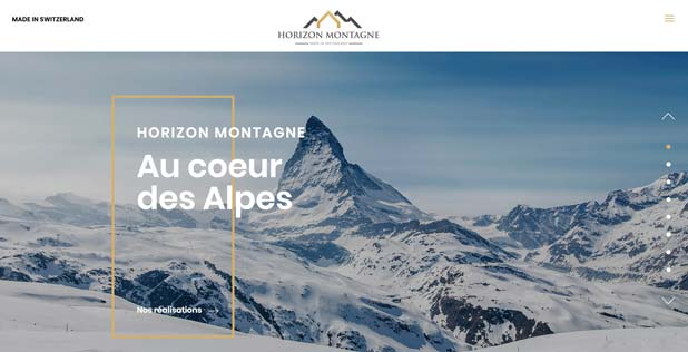 THALES IT - Réalisation sites Internet - Agence WEB Suisse- HORIZON MONTAGNE
