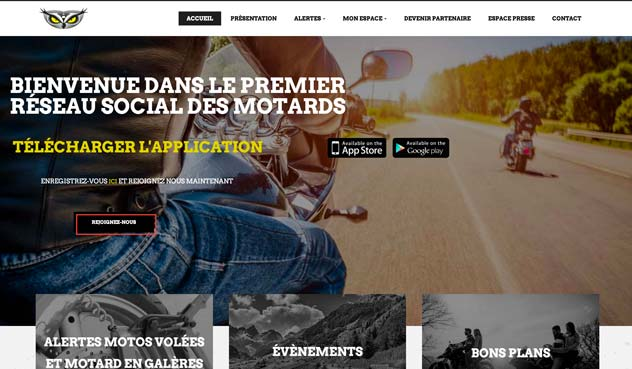 THALES IT - Réalisation sites Internet - Agence WEB Suisse- MOTO GUARD