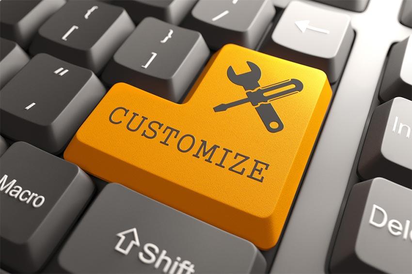 Les templates ou modèles par rapport aux sites web personnalisés