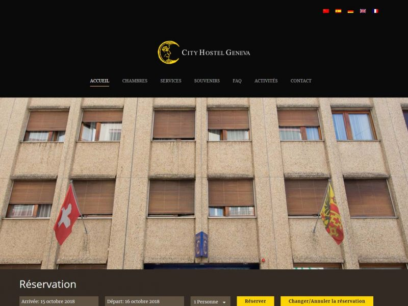 THALES IT - Réalisation sites Internet - City hostel
