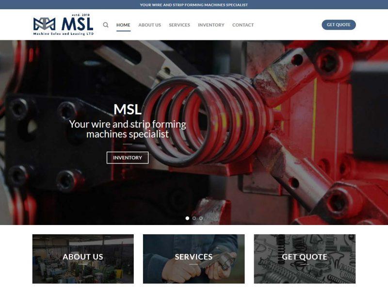 THALES IT - Réalisation sites Internet - Machine Sales and Leasing
