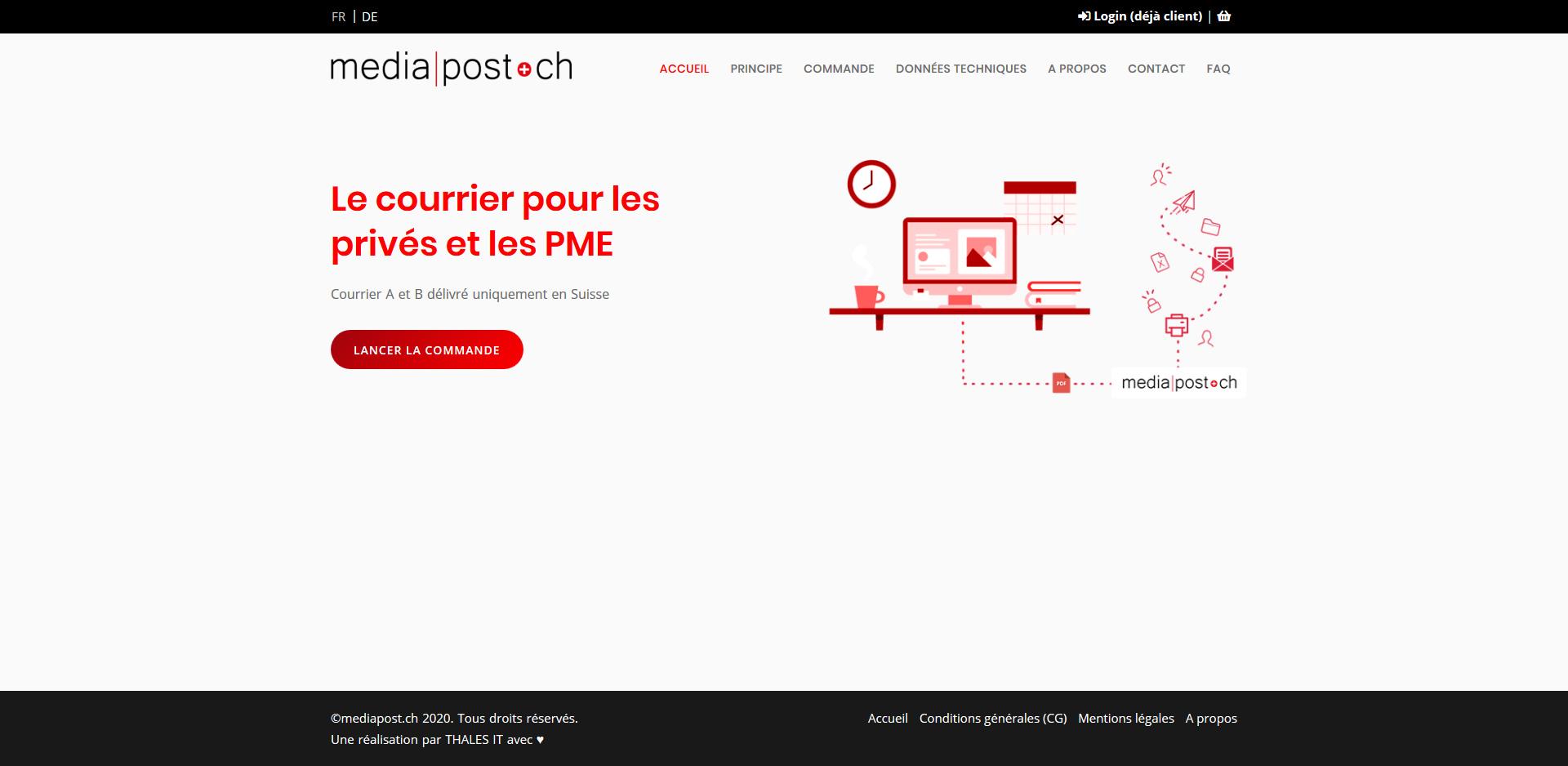 THALES IT - Réalisation sites Internet - Agence WEB - Mediapost