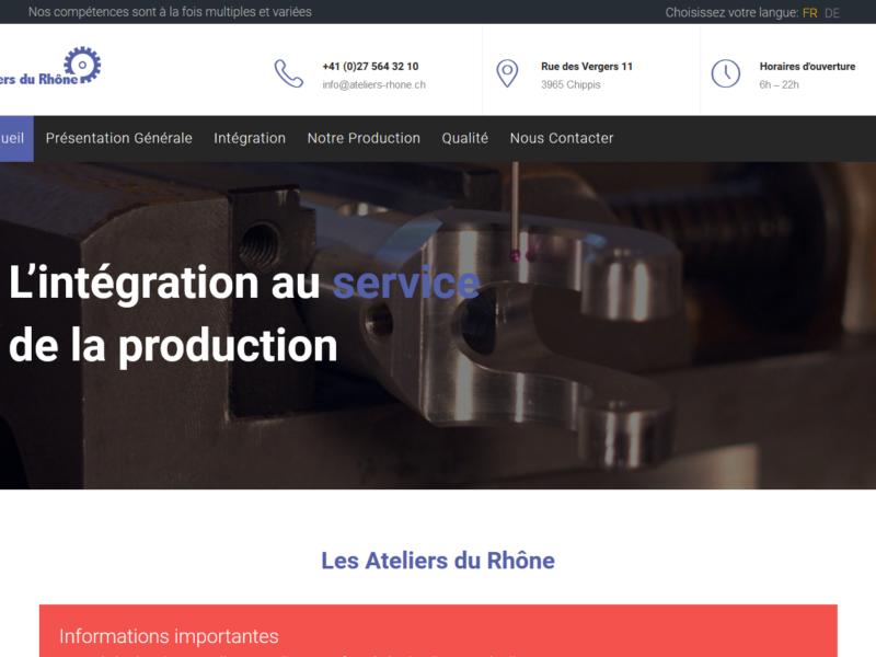 THALES IT - Réalisation sites Internet - Agence WEB - Ateliers du Rhône